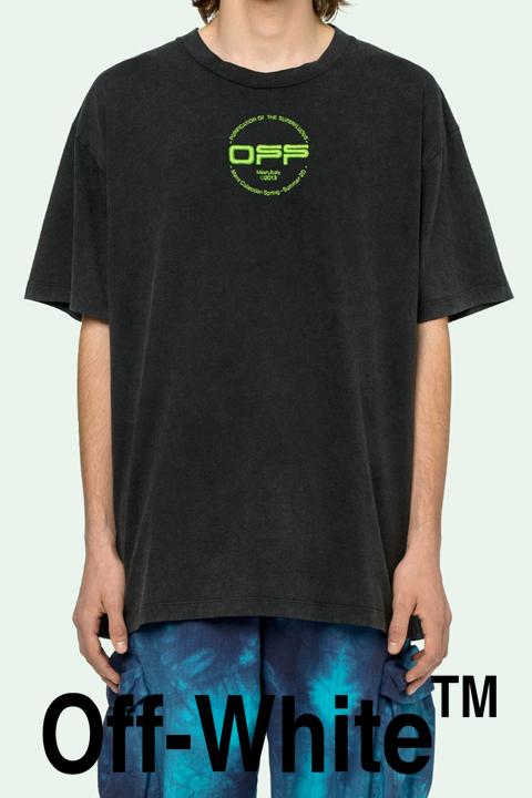 OFF-WHITE(オフホワイト)Tシャツ【黒/ブラック】【メンズ】【TAPE ARROWS S/S OVER T-SHIRT】【OMAA38R2018-5013】【2020年春夏新作】【ネオンカラープリント】【バックプリント】【入手困難】【インナー】【BLACK MULTICOLOR】