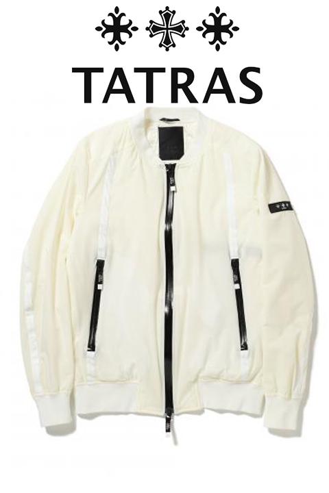 TATRAS(タトラス)ナイロンライトアウター【メンズ】【白/ホワイト】【LEON・safari掲載モデル】【ライトダウン】【MTA20S4648】【2020SS】【ベーシックデザイン】【APOLLONIO】【MA-1タイプ】【止水ジップ】
