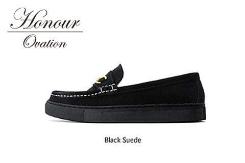 Honour Ovation(アナーオベーション)ローファー【メンズ】【ユニセックス】【黒/ブラック】【5070】【雑誌OCEANS・WOOFIN' 掲載ブランド】【シューズ/靴】【送料無料】