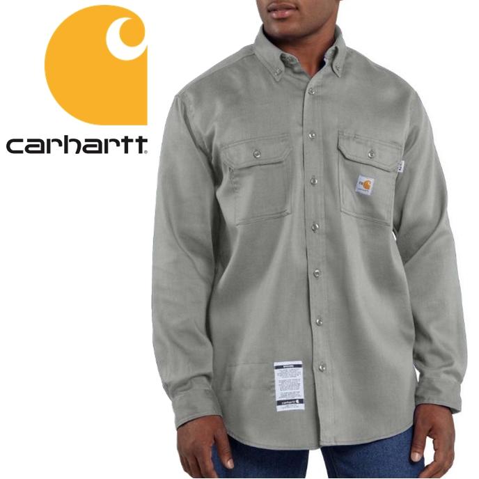 アメリカよりお取り寄せ 全店販売中 2021モデル Carhartt 付与 Twill Work Shirt カーハート チノ ビッグサイズ グレー S-XXXL ツイル素材 ワークシャツ