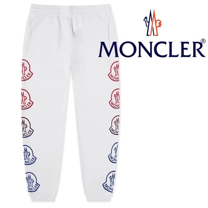 国内完売間近 正規品 取寄せ商品 MONCLER モンクレール Side Logo スウェットパンツ サイドロゴ 値引き ホワイト 白 2021秋冬最新 NEW ARRIVAL Pants