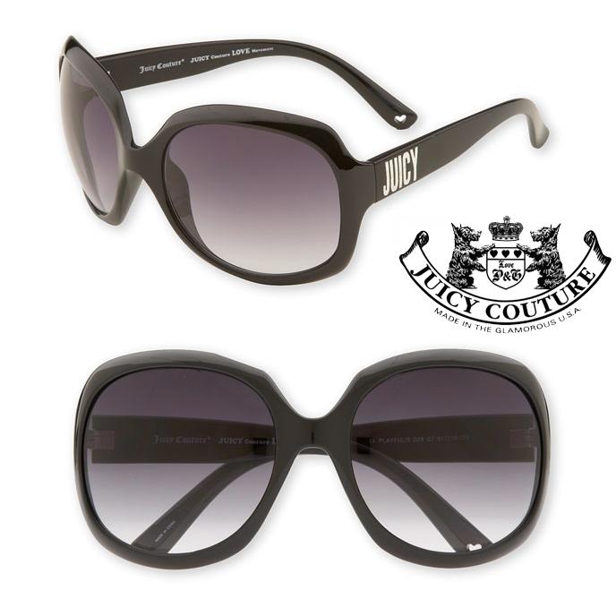 ◆SALE!!!◆◆【即納】◆No.1大人気モデル◆【JUICY COUTURE】ジューシークチュール◆【JUICY Playful Sunglasses】ロゴ入り大きめサングラス/ブラック