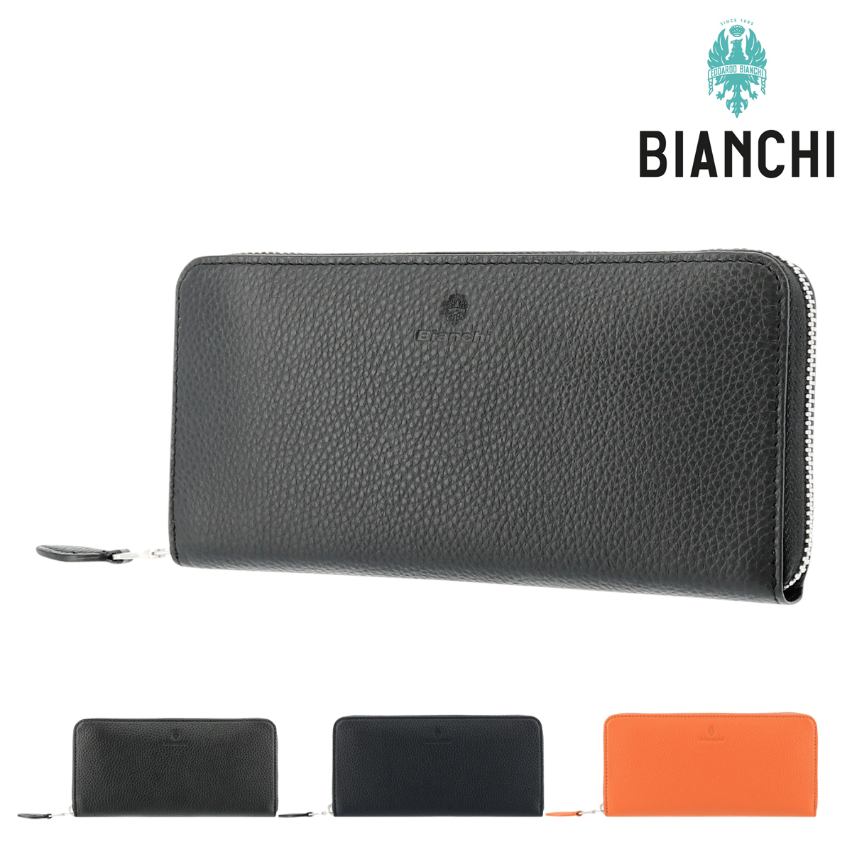 ビアンキ 長財布 ラウンドファスナー デフィー メンズ BIC1007 Bianchi | 牛革 本革 レザー[PO10]