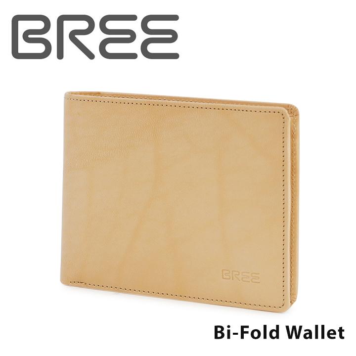 ブリー BREE 財布 LUND109 nature ネイチャー 【二つ折り財布 メンズ レディース ヌメ革 レザー ナチュラル】【PO5】【bef】