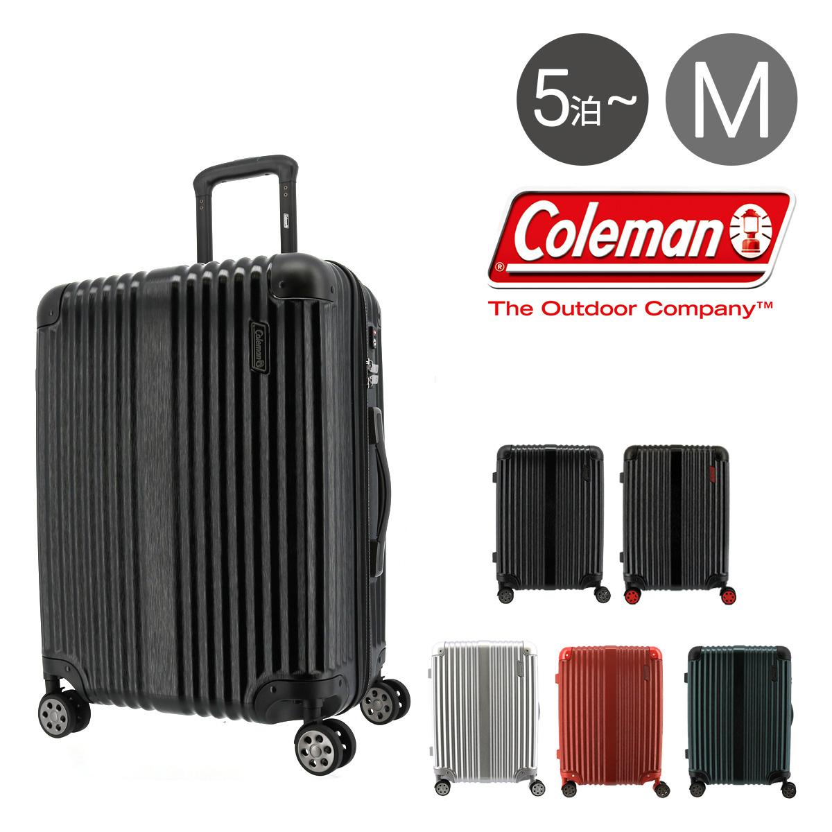 コールマン スーツケース 63L ハード ファスナー メンズ レディース 14-60 Coleman | キャリーケース ヘアライン柄[PO10]