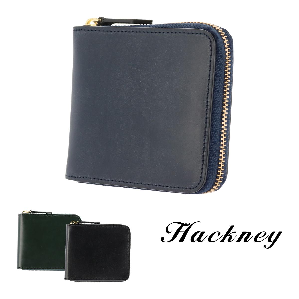 ハックニー Hackney 二つ折り財布 HK-800 | ラウンドファスナー 財布 ブライドルレザー イタリアンレザー メンズ[bef][PO10]