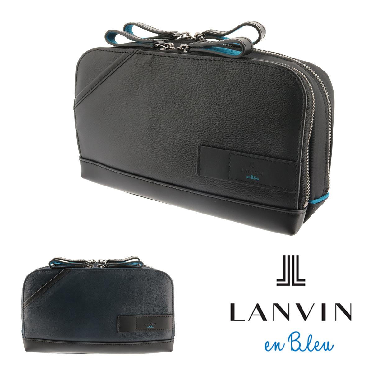 ランバンオンブルー セカンドバッグ メンズ パラドックス 572101 LANVIN en Bleu ショルダー付き 本革 レザー スマートクラッチ 多機能 [bef][PO10][即日発送]