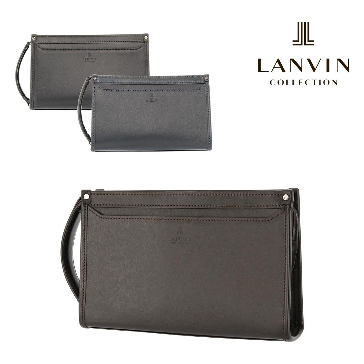 ランバンコレクション セカンドバッグ 24cm メンズ 日本製 フロー 282251 | LANVIN COLLECTION 持ち手付き 牛革 本革 レザー[PO5][bef]