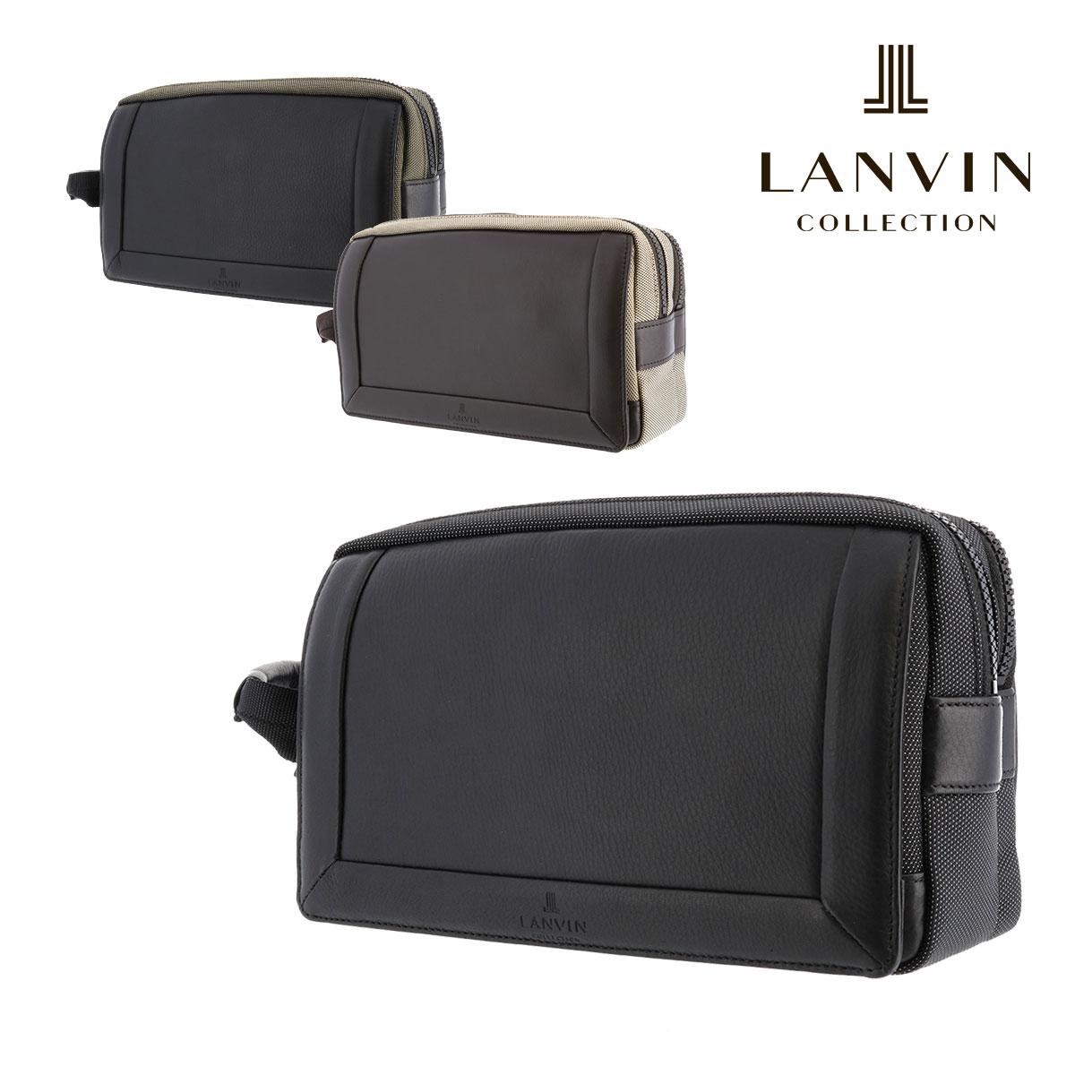 ランバンコレクション セカンドバッグ アクタス メンズ | 289202 日本製 LANVIN COLLECTION | ナイロン 本革 レザー【PO5】