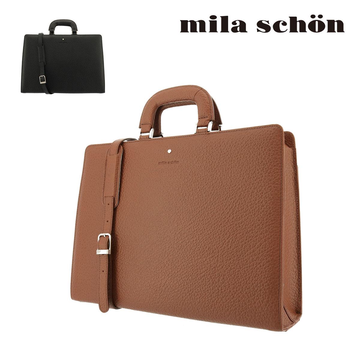ミラショーン ブリーフケース メンズ ネロ 197517 | Mila Schon ビジネスバッグ 本革 レザー[PO5]