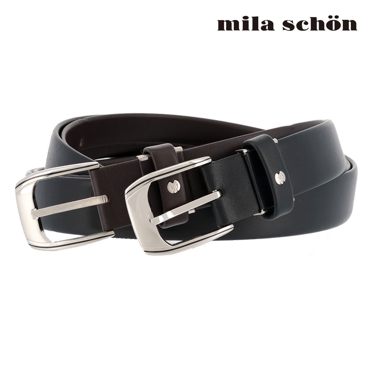 ミラショーン レザーベルト MSMB5650 | milaschon ピン式 牛革 メンズ[PO5][bef]