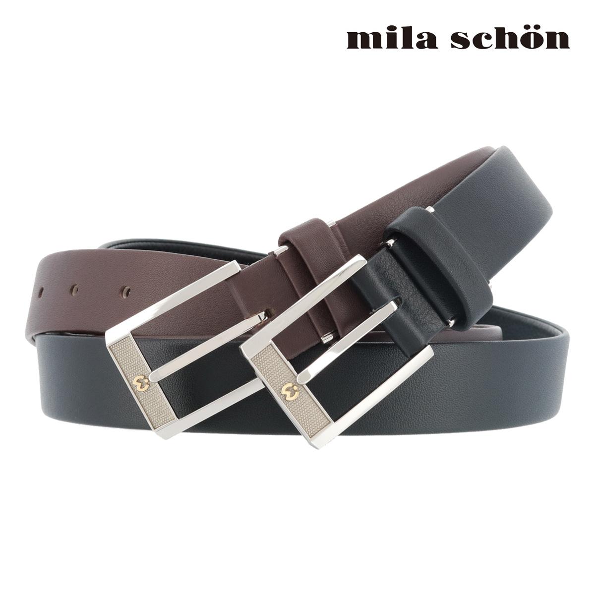 ミラショーン レザーベルト MSMB8400 | milaschon ピン式 牛革 メンズ[PO5][bef]