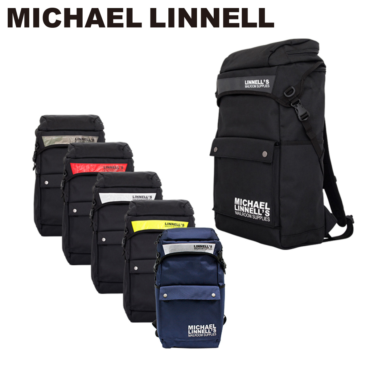 マイケルリンネル MICHAEL LINNELL リュック スクールバッグ ML 013ビジネスバッグ ブリーフケース メンズ 3WAY コーデュラナイロン リフレクター装備 撥水 軽量 befPO10redWoCxB