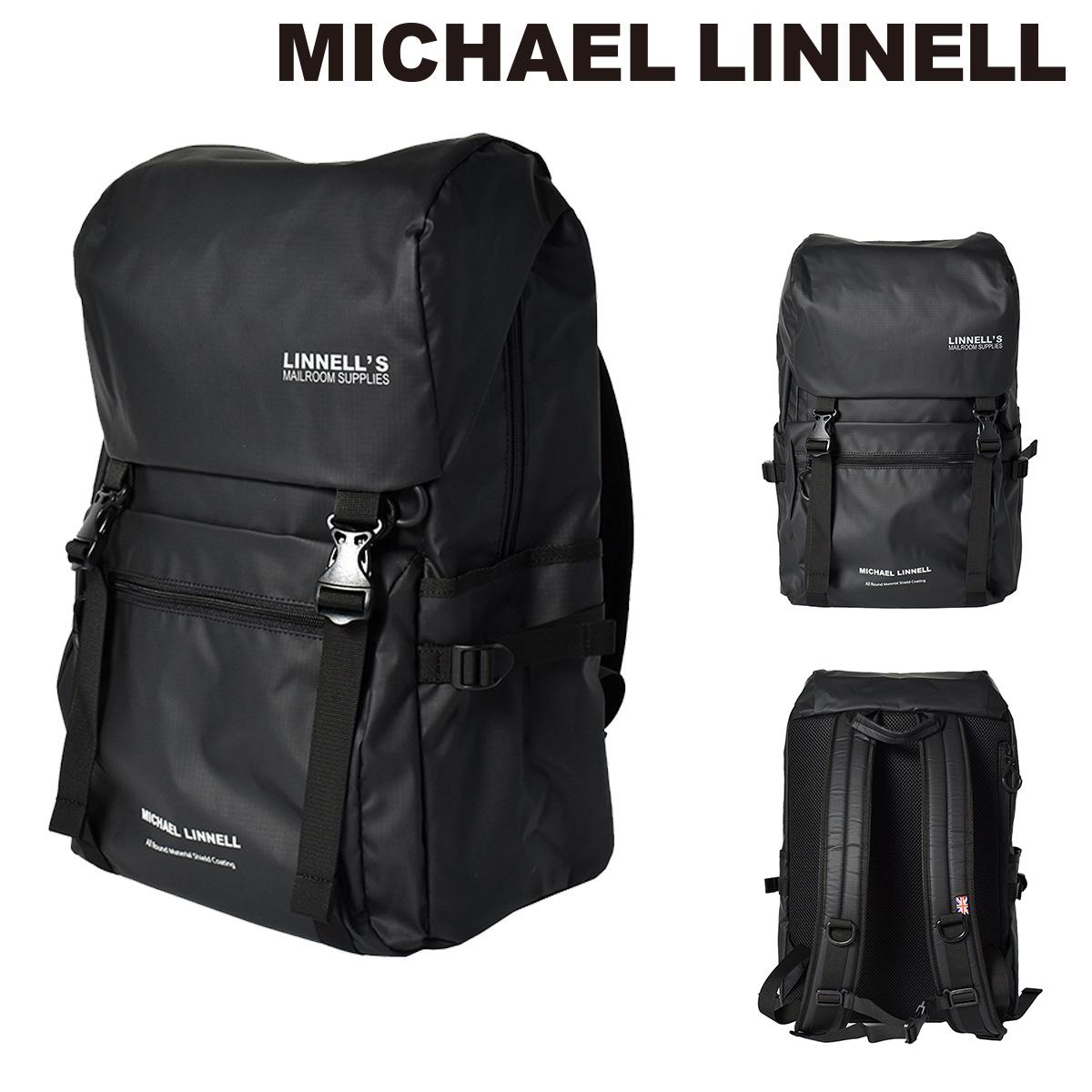 マイケルリンネル リュック メンズ レディース 27L MLAC-08   MICHAEL LINNELL リュックサック スクエア 軽量 撥水 ナイロン【PO10】