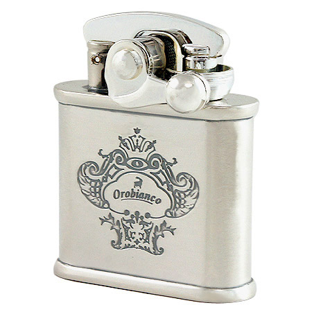 Orobianco Colibri oil lighter ORL-12 S Silver oxidized