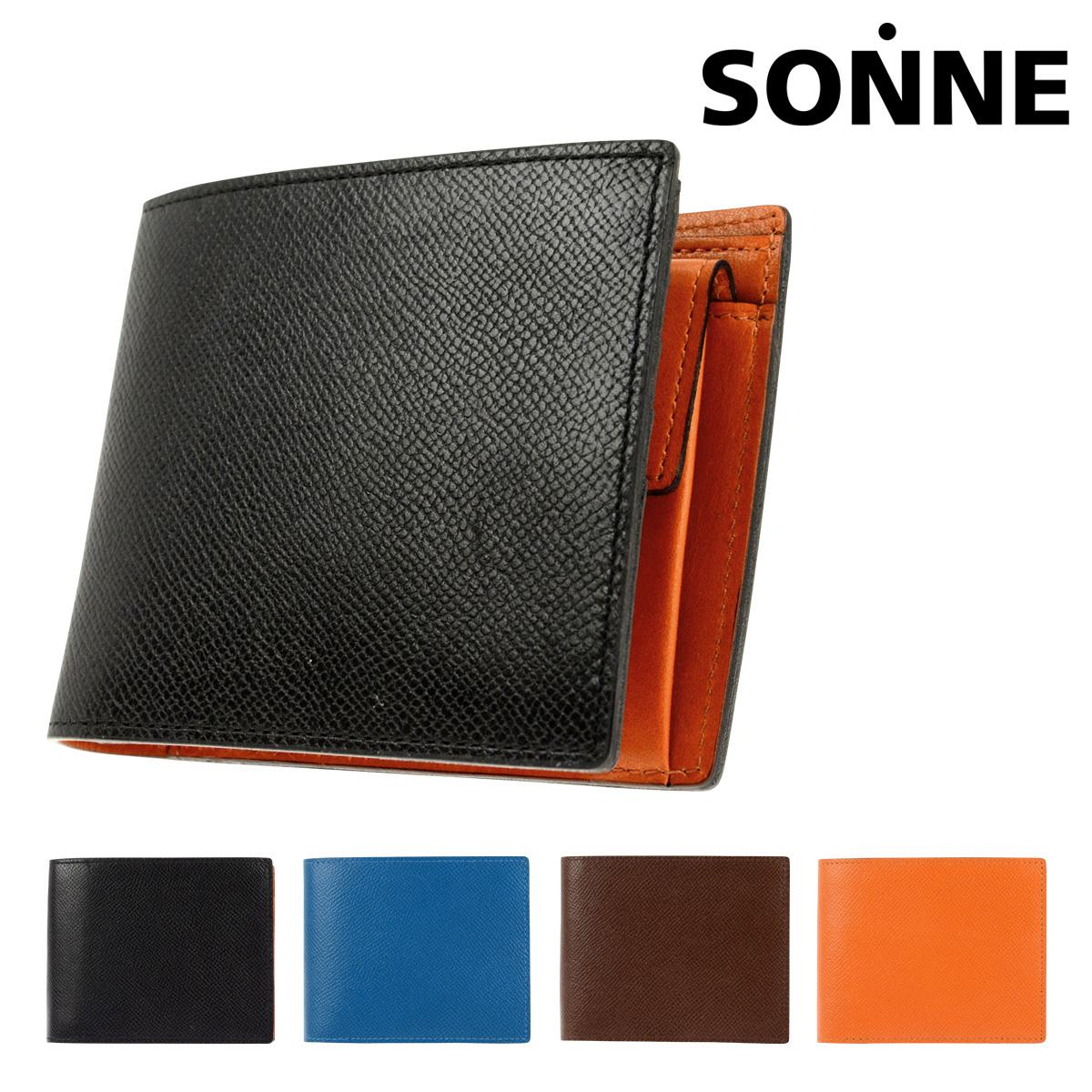 637a6f770349 ゾンネ 二つ折り財布 チェルケス メンズ SOZ005 SONNE | 本革 レザー ブランド専用BOX付き