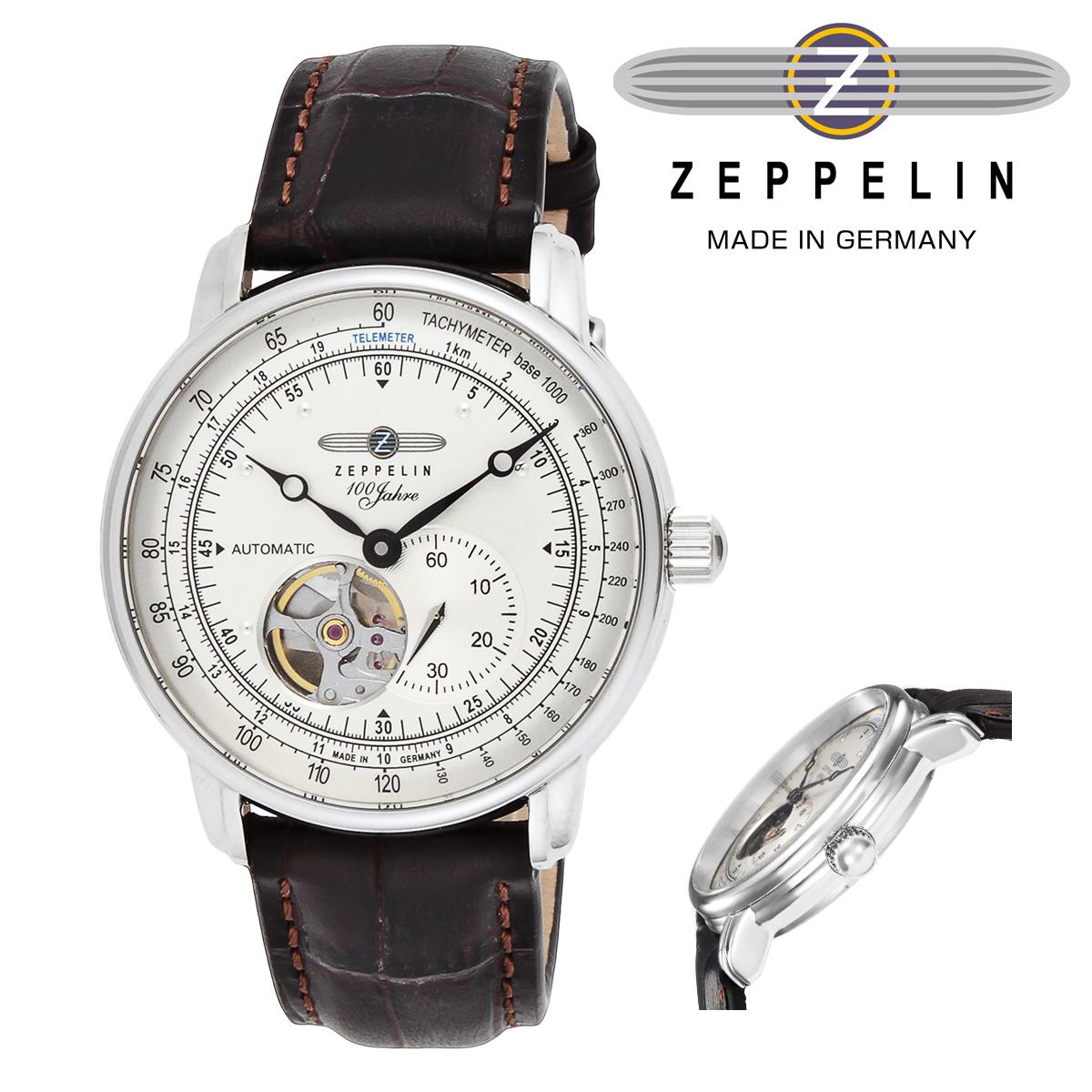 ツェッペリン 腕時計 100years 2104530 日本限定モデル メンズ ZEPPELIN ステンレススチール ミネラルガラス 本革