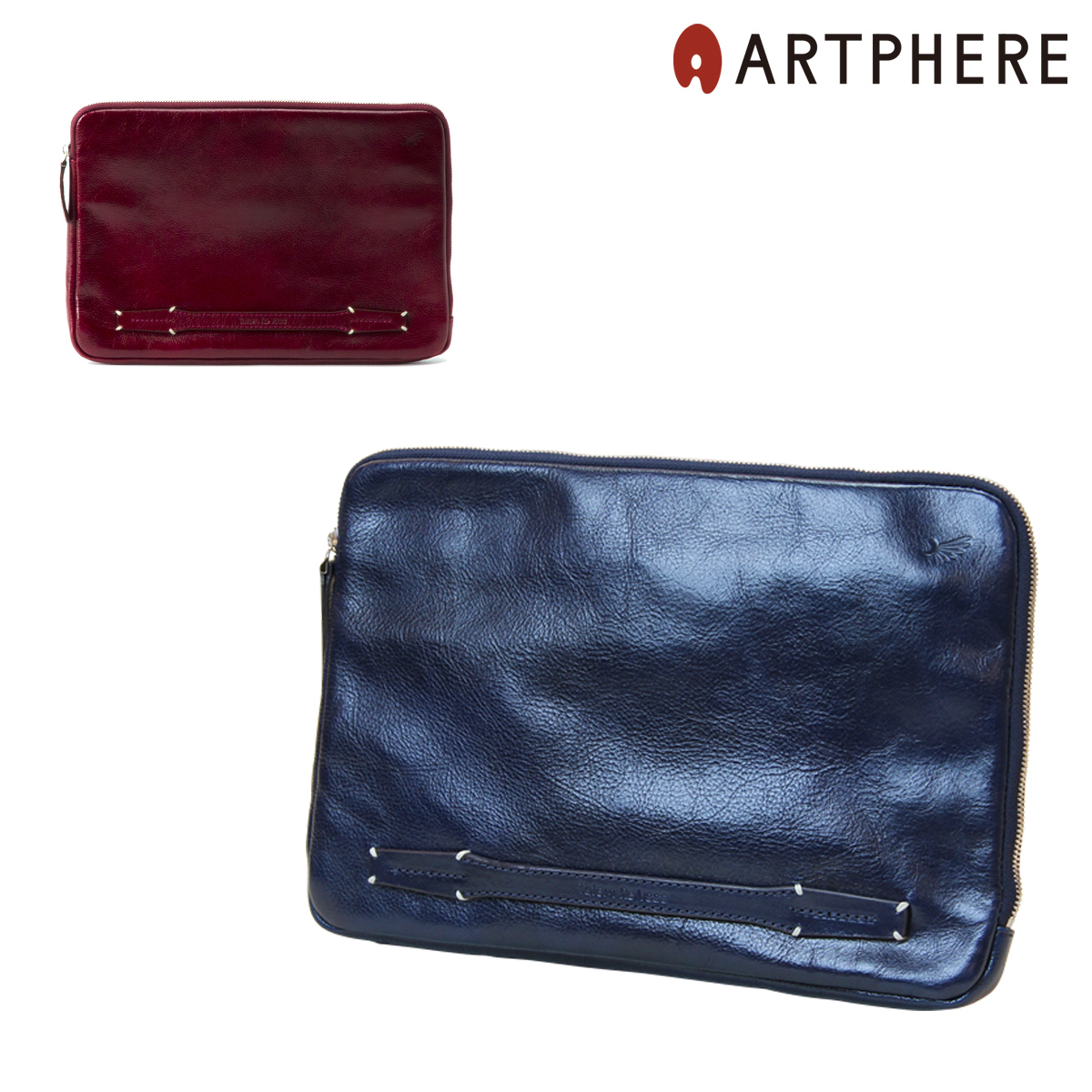 アートフィアー クラッチバッグ トーテムリボー アンティパスト スキン メンズ TRV0406 日本製 ARTPHERE Totem Re Vooo Antipasto Skin | セカンドバッグ ポーチ 牛革 レザー