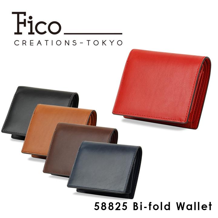 フィーコ Fico 二つ折り財布 58825 パオロ 中ベラ付 財布 メンズ レザー 1年保証 [PO5][bef]