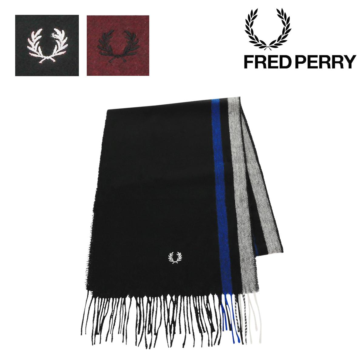 フレッドペリー マフラー ティップドウーヴンスカーフ メンズ レディース C7158 FRED PERRY | シンプル[即日発送]