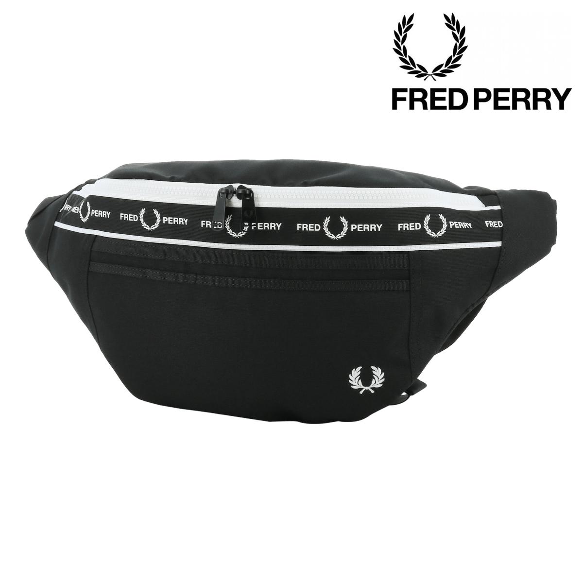 フレッドペリー ウエストポーチ モノクロームクロスボディバッグ メンズ L7228 FRED PERRY | ウエストバッグ[PO10][即日発送][bef]