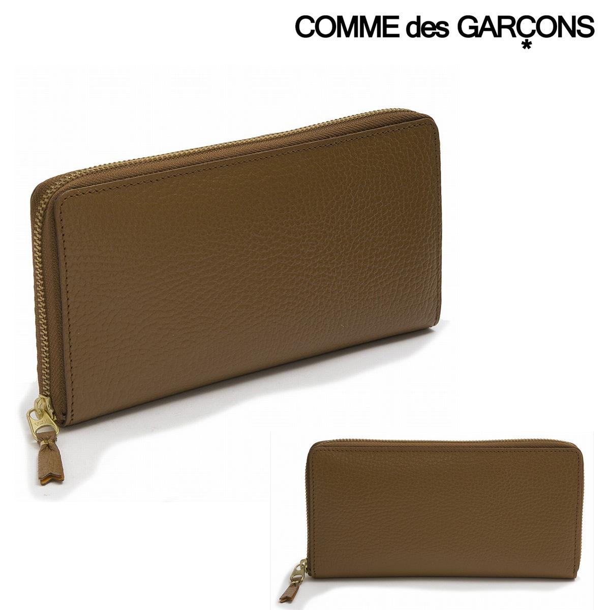 コムデギャルソン 長財布 ラウンドファスナー メンズ レディース SA0110IC COMME des GARCONS | カラー インサイド ウォレット レザー ブランド専用BOX付き