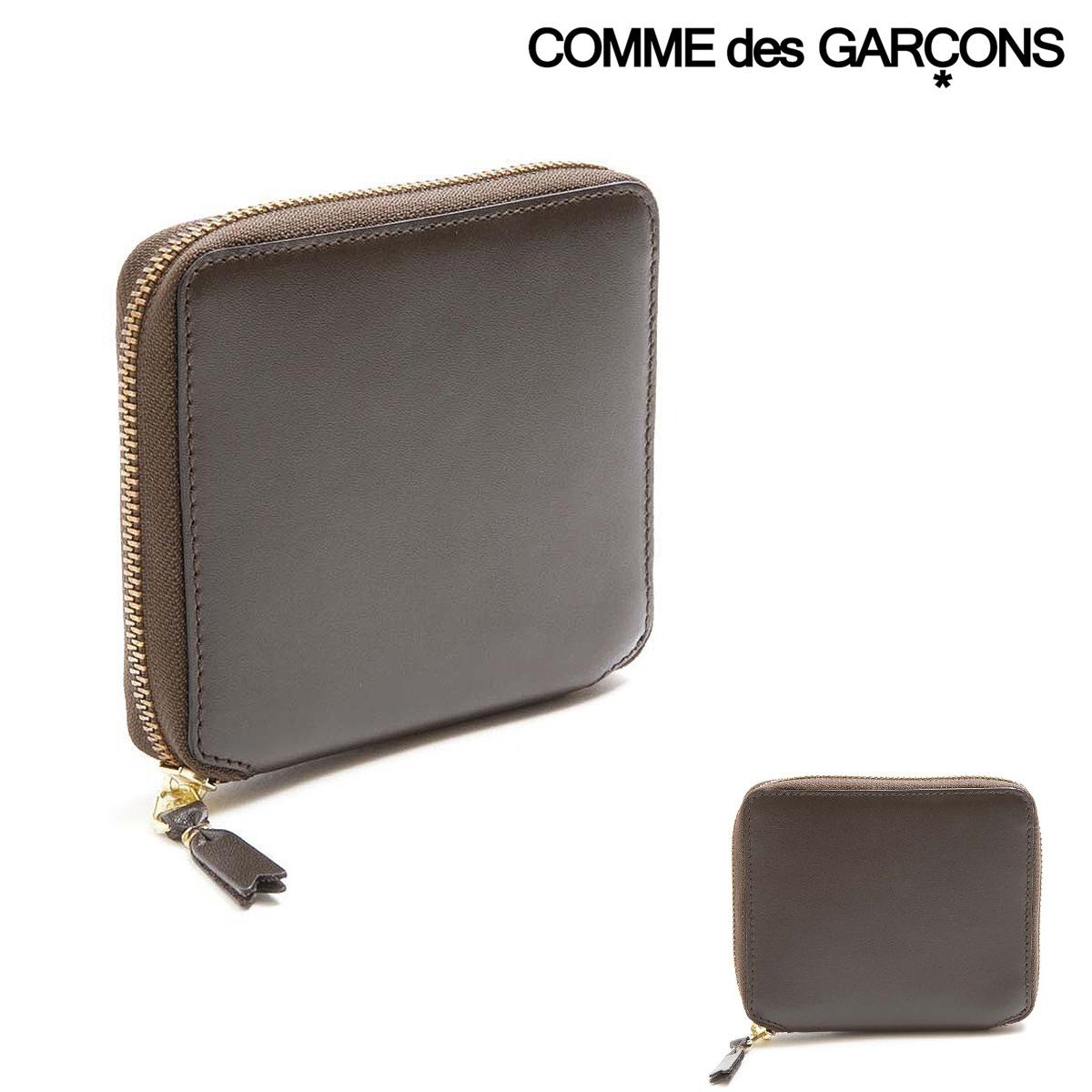 コムデギャルソン 二つ折り財布 メンズ レディース SA2100 COMME des GARCONS | ラウンドファスナー レザー ブランド専用BOX付き