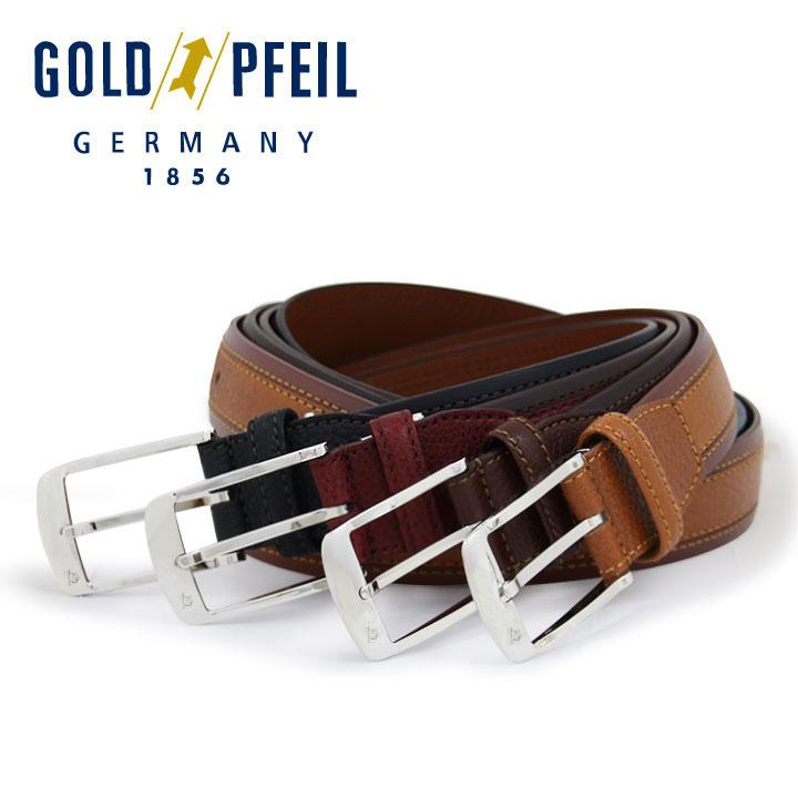 ゴールドファイル ベルト Lサイズ メンズ GB53612 GOLDPFEIL   レザー ブランド専用BOX付き[PO10][bef]