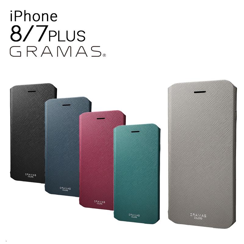 グラマスカラーズ GRAMAS COLORS iPhone8Plus iPhone7Plus ケース CLC276P EURO Passione Leather Case アイフォン スマホケース スマートフォン カバー スマホケース カバー サフィアーノ調 フェイクレザー 手帳型 カード収納 [bef][即日発送]