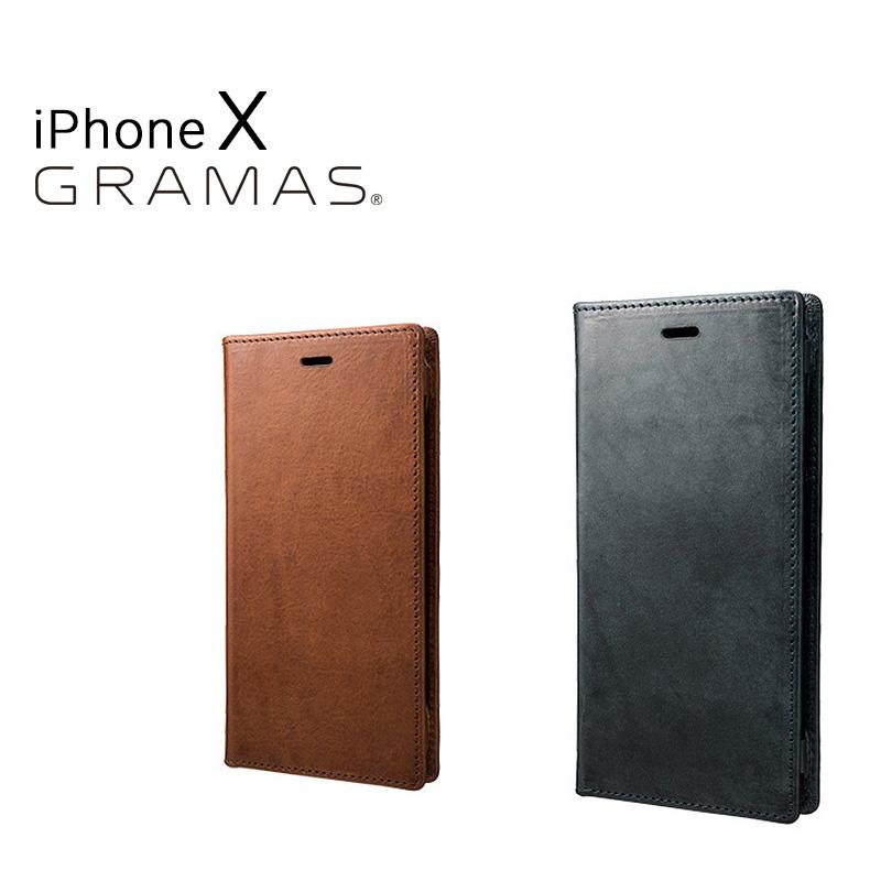 グラマス GRAMAS iPhoneX ケース GLC-70317 TOIANO Full Leather Case 【 アイフォン スマホケース スマートフォン カバー 本革 手帳型 カード収納 】[bef][即日発送]