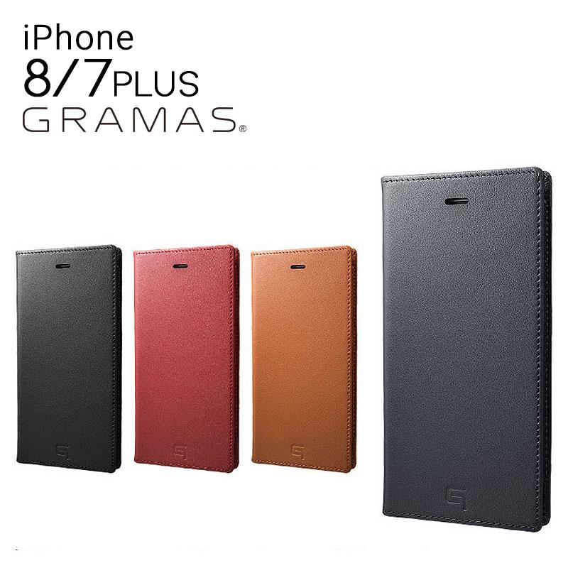 グラマス GRAMAS iPhone8Plus iPhone7Plus ケース GLC636P Full Leather Case 【 アイフォン スマホケース スマートフォン カバー フルレザー 本革 手帳型 カード収納 】[bef][即日発送]