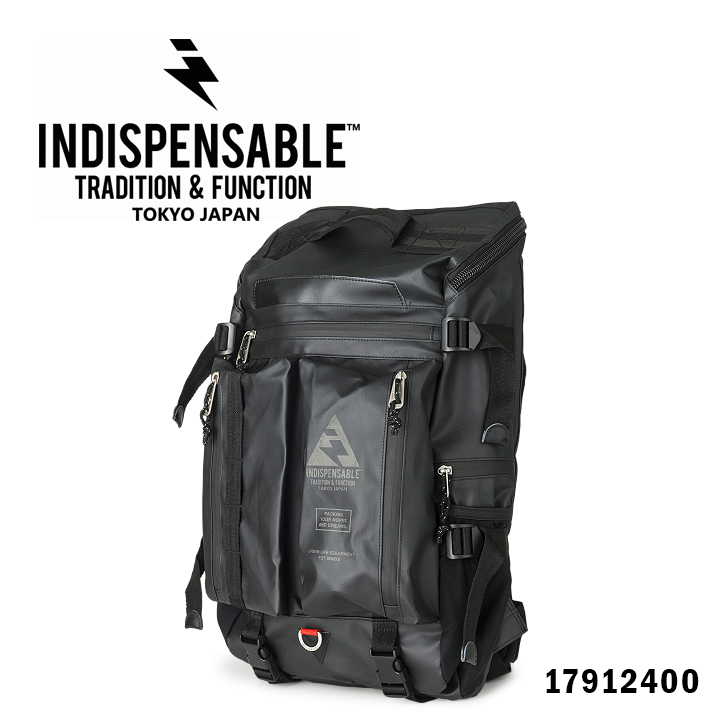 インディスペンサブル INDISPENSABLE リュック 17912400 BUSTLE Type2 【 リュックサック デイバッグ バックパック リュック コーティング加工 メンズ 】【PO10】【bef】