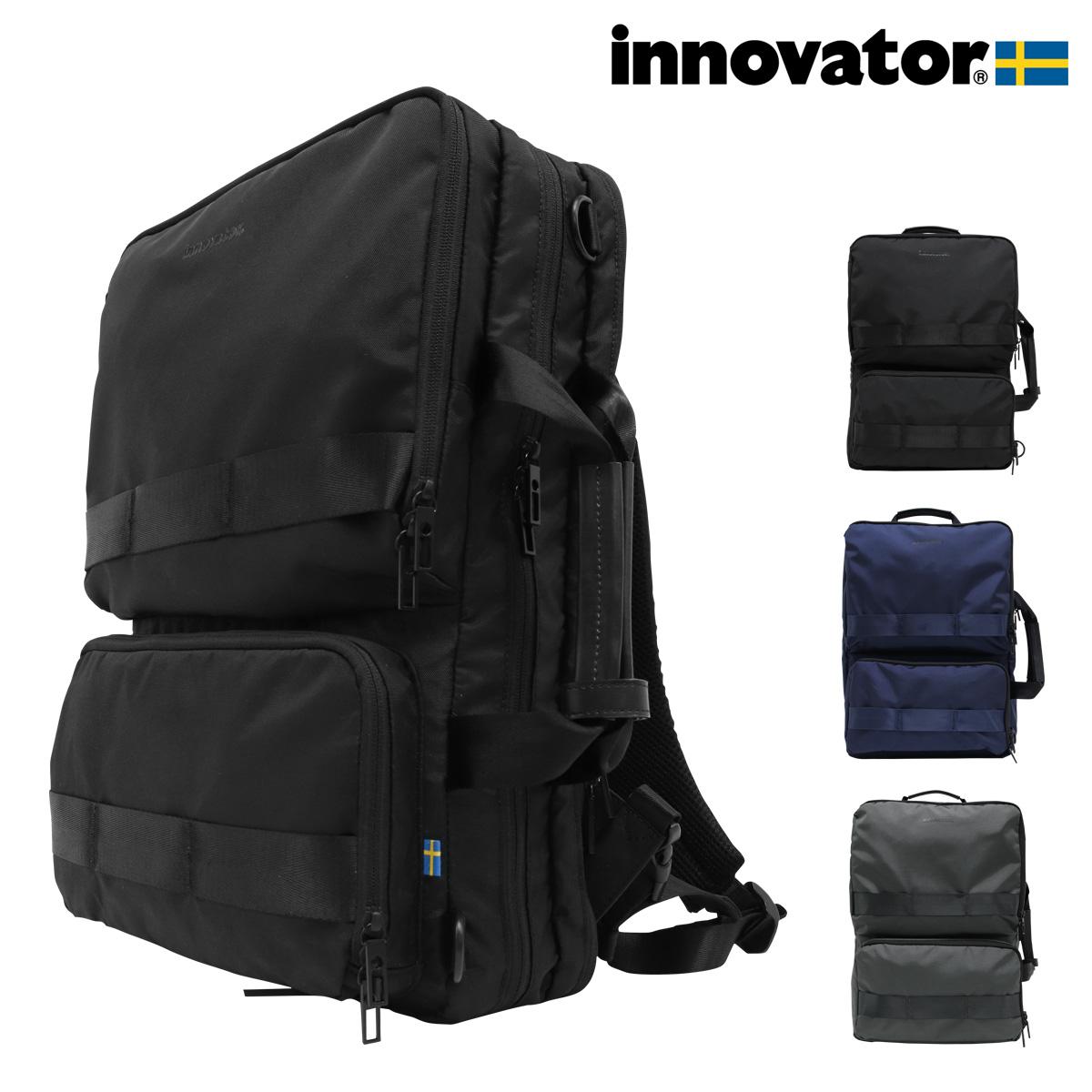 イノベーター リュック 大容量 タフ メンズ INB-002 INNOVATOR | リュックサック バックパック 3WAY スクエア 軽量 撥水 ナイロン[bef][即日発送]
