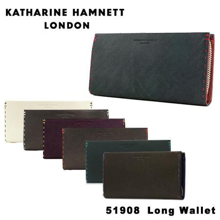 キャサリン ハムネット ラウンドファスナー 長財布 490-51908 KATHARINE HAMNETT カラーテーラード [PO10][bef]
