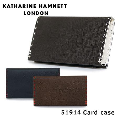 キャサリンハムネット カードケース 490-51914 KATHARINE HAMNETT カラーテーラード 名刺入れ メンズ 革 レザー [PO10][bef]