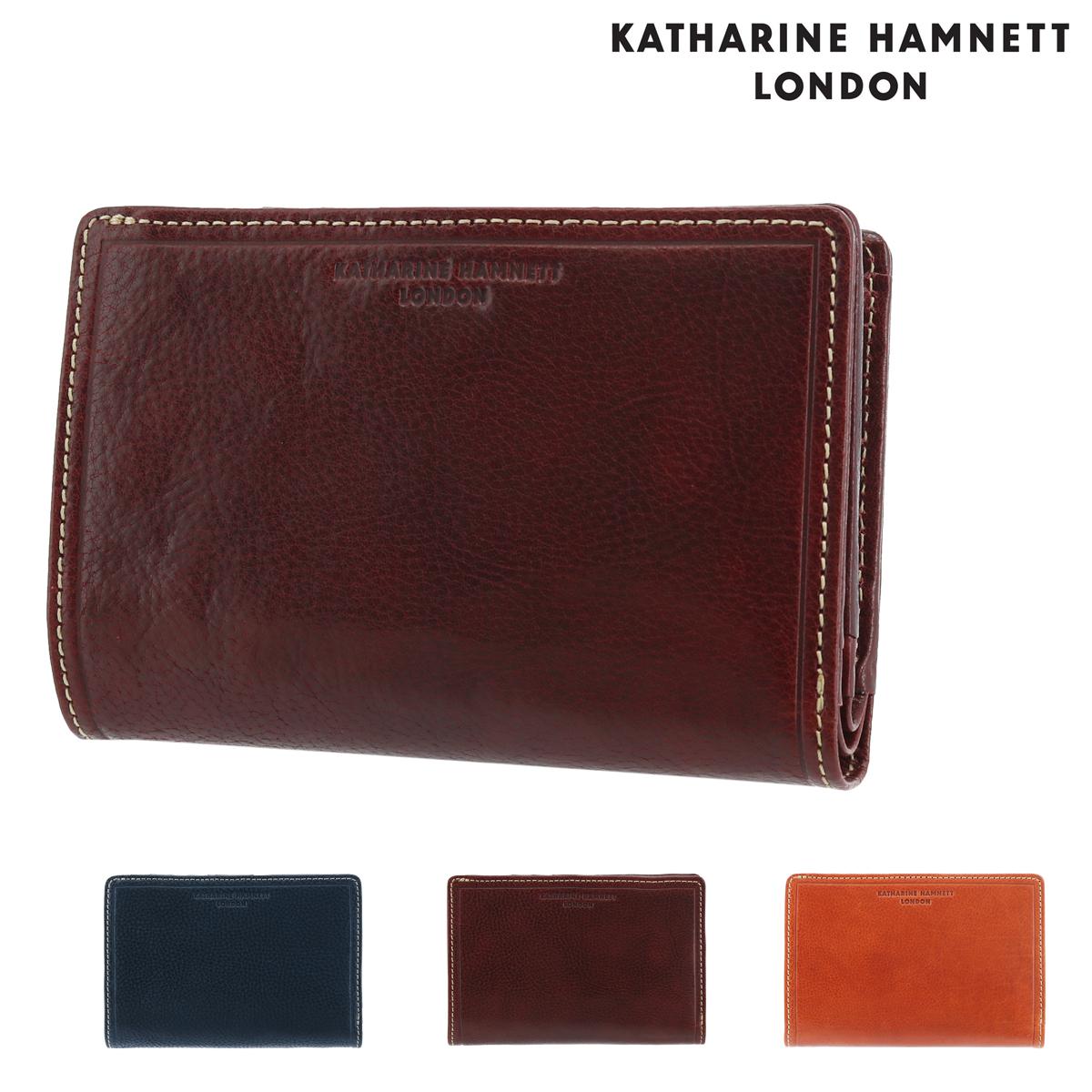 キャサリンハムネット ミドル財布 メンズ LINE MANII 490-58202 KATHARINE HAMNETT | 牛革 本革 レザー[PO10]