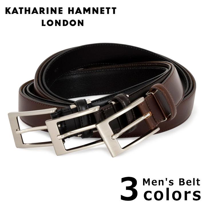 キャサリンハムネット KATHARINE HAMNETT ベルト KH-505015 メンズ レザー [PO10][bef][即日発送]