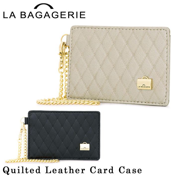 ラバガジェリー LA BAGAGERIE カードケース B42-91-01 キルティングレザー レディース パスケース 定期入れ ICホルダー [PO5][bef]