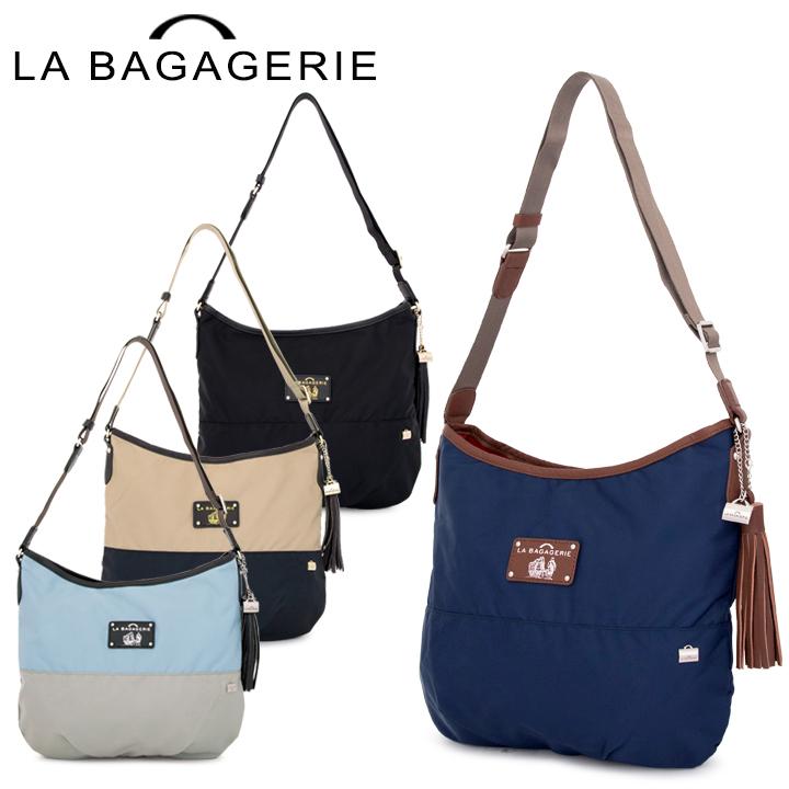 ラバガジェリー LA BAGAGERIE ショルダーバッグ B61-01-02 ウォータープルーフナイロン レディース [PO10][bef]