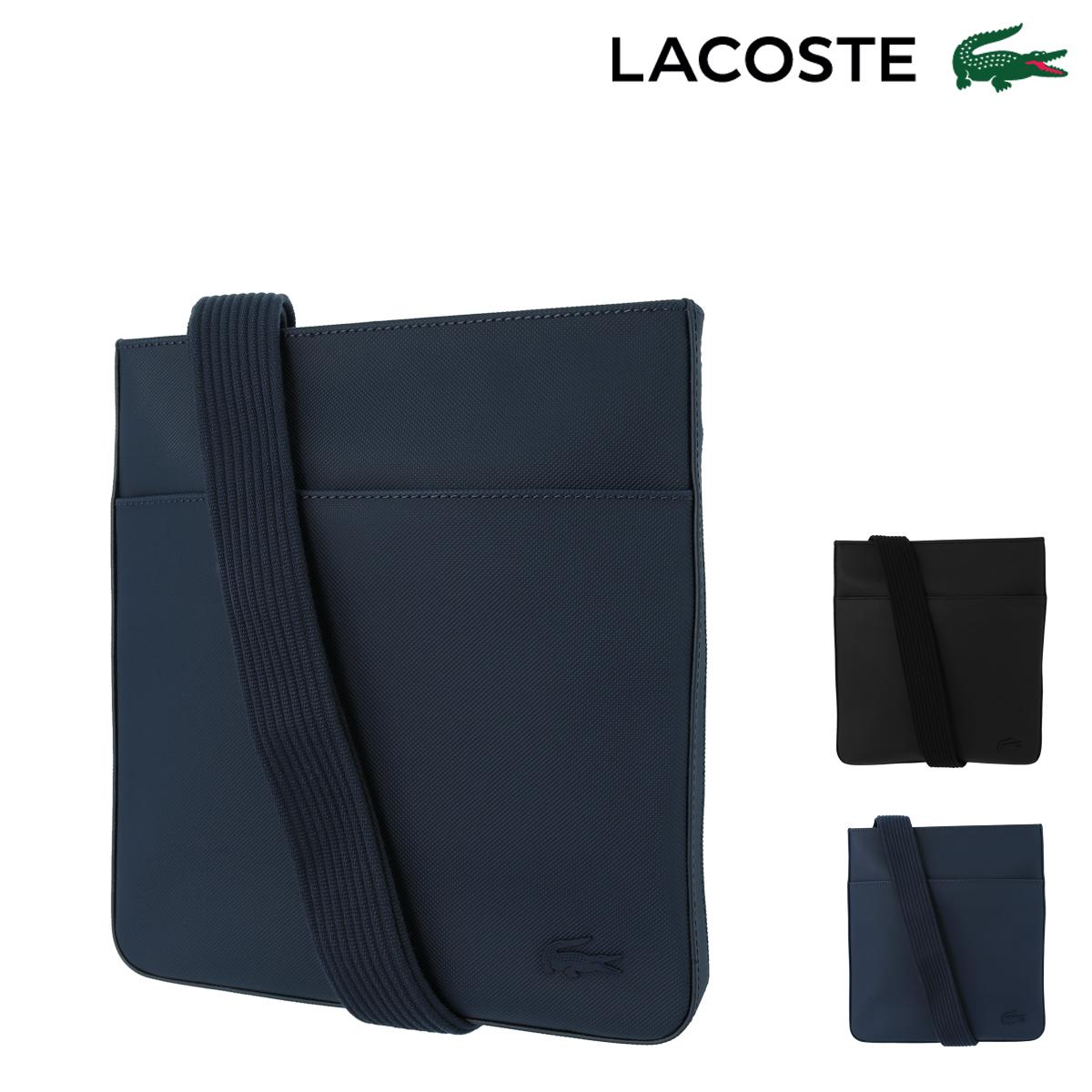 ラコステ ショルダーバッグ MEN'S CLASSIC メンズ NH2850H LACOSTE   エンボス スクエアバッグ[PO10][bef]