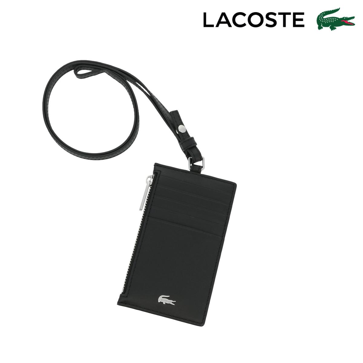 ラコステ カードケース ストラップ FG メンズ NH3159F LACOSTE | フラグメントケース 牛革 本革 レザー[PO10][即日発送]