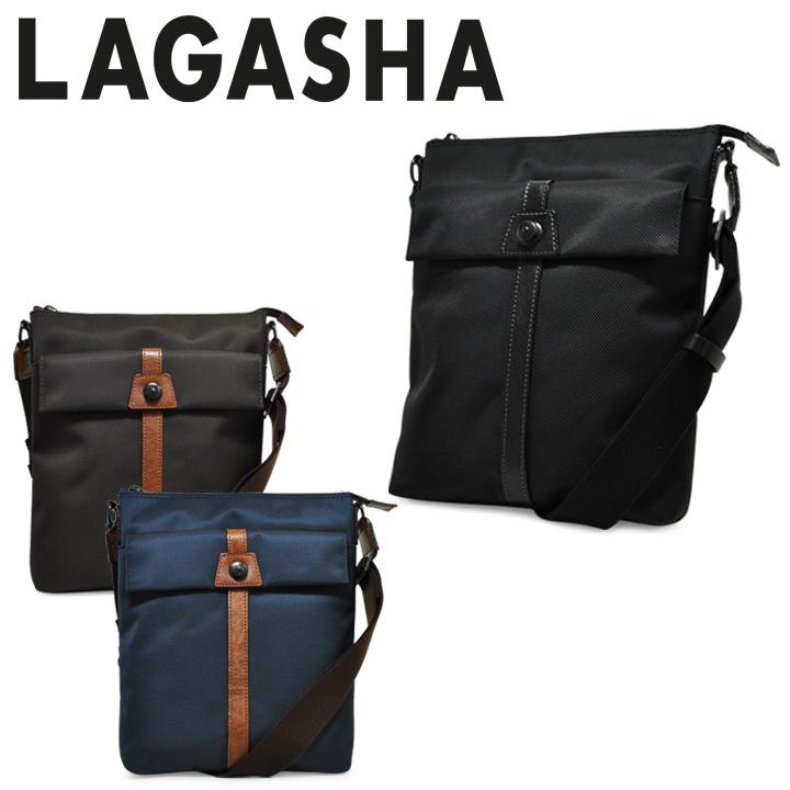 ラガシャ ショルダーバッグ メンズ 日本製 薄マチ 旅行バッグ 軽量 高耐久性 MOVE ムーヴ OFFICE 7142 LAGASHA [PO10][bef][即日発送]