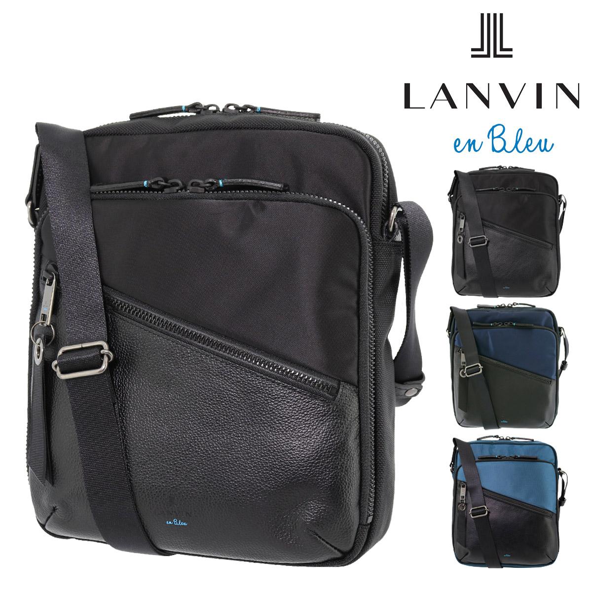 ランバンオンブルー ショルダーバッグ フェリックス メンズ 564122 日本製 LANVIN en Bleu | 軽量 コンパクト ナイロン 牛革 本革 レザー[bef]