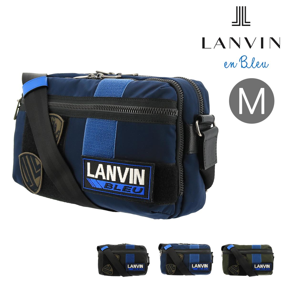 ランバンオンブルー ショルダーバッグ メンズ レディース クレスト 577102 LANVIN en Bleu | 軽量 ナイロン ワッペン[bef]