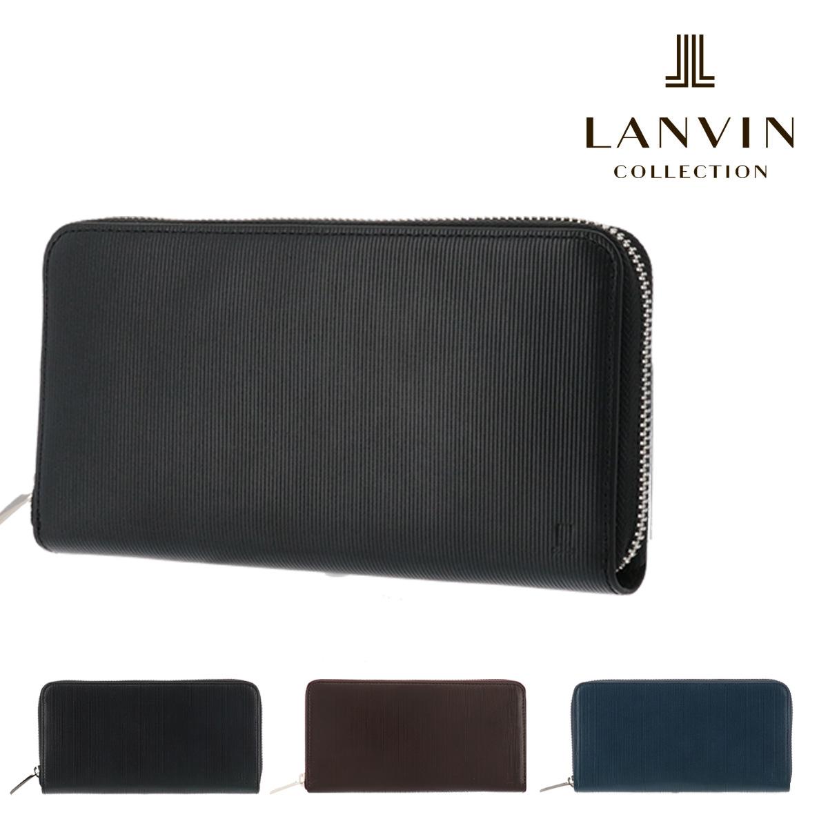 ランバンコレクション 長財布 ジオメトリック JLMW7CT2 LANVIN COLLECTION ラウンド長財布 束入れ 本革 レザー メンズ
