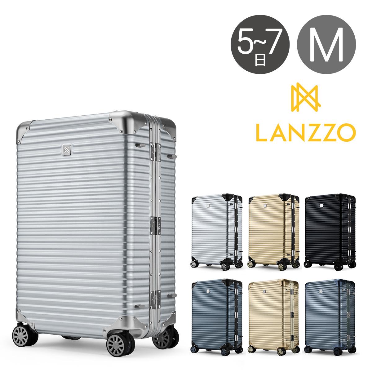 ランツォ スーツケース ノーマン 27インチ 64L 64cm 6.3kg アルミニウム合金 5年保証 アルミ ハード フレーム TSAロック搭載 キャリーケース LANZZO [bef]