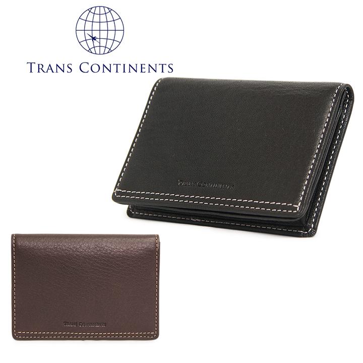 トランスコンチネンツ TRANS CONTINENTS 名刺入れ TC-207016 オイルソフトシリーズ カードケース メンズ レザー 通しマチ [PO5][bef][即日発送]