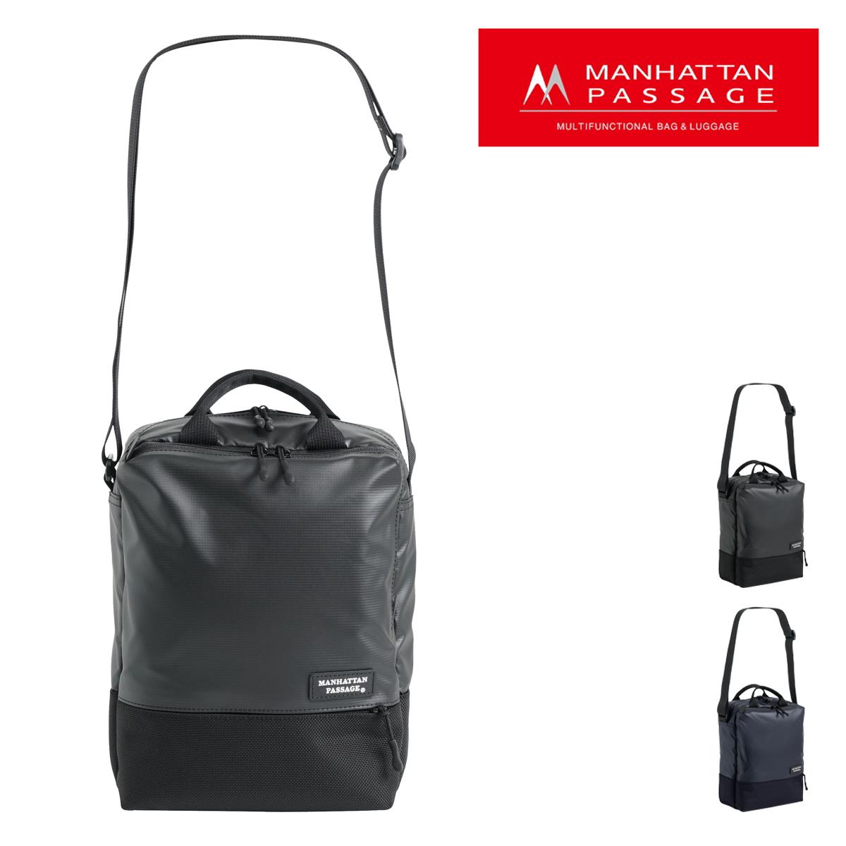 マンハッタンパッセージ ショルダーバッグ Plus メンズ3365 MANHATTAN PASSAGE | ビジネスバッグ B5 高密度ナイロン 撥水 軽量[PO10]