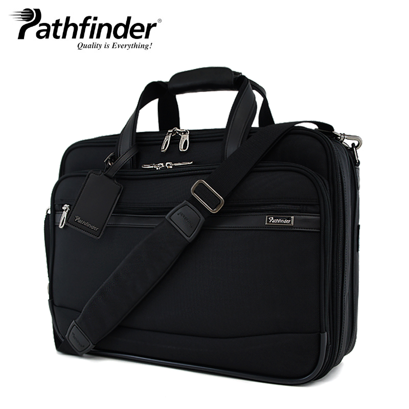 """パスファインダー ブリーフケース PF6805B ブラック 1年保証 Pathfinder 18""""EXP Double Brief [PO10][bef]"""