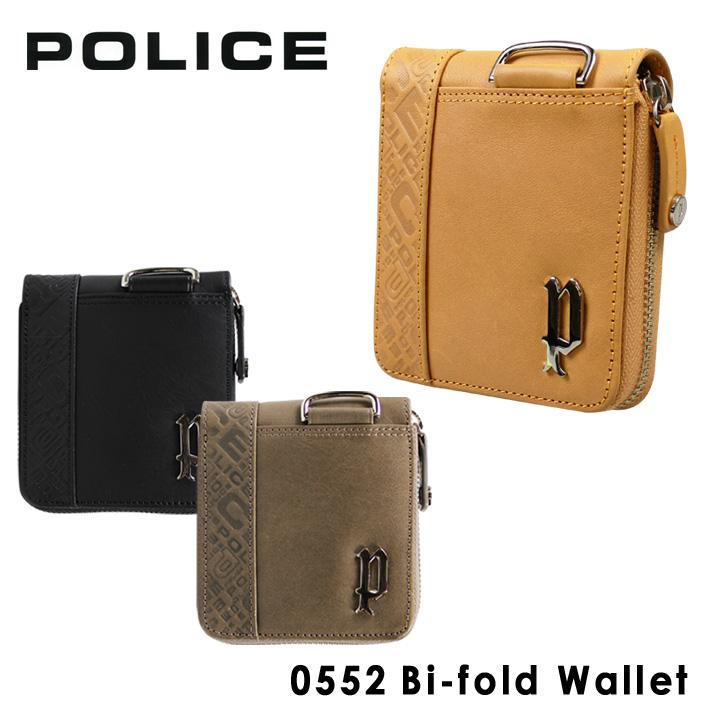 ポリス 二つ折り財布 PA56102 (0552) POLICEイタリアンレザー 財布 ラウンドファスナー メンズ [PO10][bef]